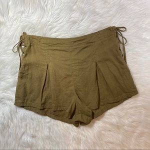 Free People Olive Green silver springs shorts sma